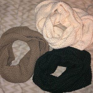 Knit infinity scarf wraps